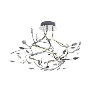Edit Blossom LED Semi-Flush Ceiling Light - Chrome