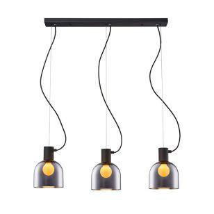 Edit Lazro 3 Light Bar Ceiling Pendant - Black