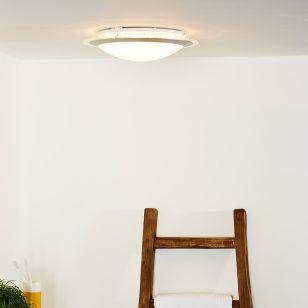 Lucide Gently LED Round Flush Ceiling Light - Satin Chrome