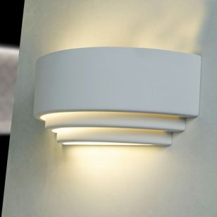 Edit Brent Up & Down Plaster Wall Light