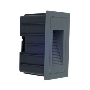 Edit Trail LED Outdoor Recessed Wall Light - Anthracite