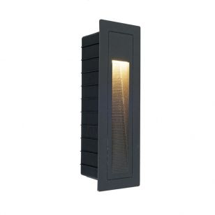 Edit Lane LED Outdoor Recessed Wall Light - Anthracite