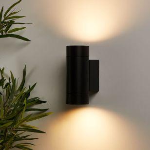 Edit Hamilton Up & Down Outdoor Wall Light - Black