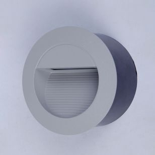 Edit Street LED Outdoor Recessed Wall Light - Silver