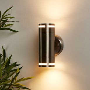 Edit Melrose Up & Down Outdoor Wall Light - Stainless Steel