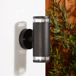 Edit Clyde Up & Down Outdoor Wall Light - Black