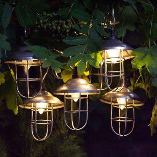 365 Industrial Lantern Solar LED String Lights - 10 Lights