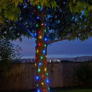 Firefly Multi Colour Solar LED Micro Wire Fairy Lights - 100 Lights