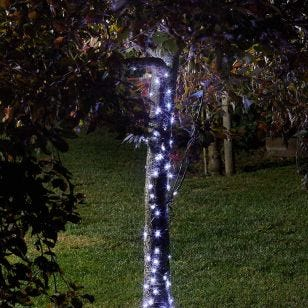 Firefly Cool White Solar LED Micro Wire Fairy Lights - 100 Lights