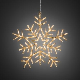 Konstsmide Warm White LED Multi-Function Snowflake Decoration