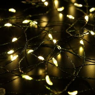 Edit Warm White LED Multi-Function Green Micro Wire Fairy Lights - 360 Lights
