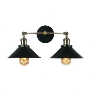 Edit Steam Twin Wall Light - Black