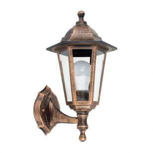 Edit Mayfair Coach Lantern Outdoor Wall Light - Distressed Copper