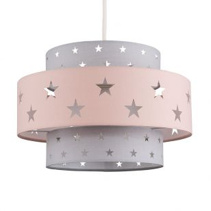 Edit Story Easy Fit Pendant Shade - Dusky Pink & Grey