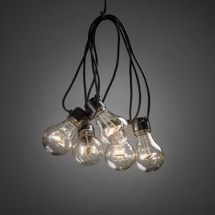 Konstsmide 14.5M Warm White LED Clear GLS Festoon Lights - 20 Lights