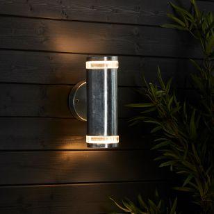 Edit Coastal Glacier Outdoor Up & Down Wall Light - Galvanised Steel