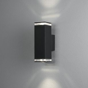 Konstsmide Antares Up & Down Outdoor Wall Light - Black
