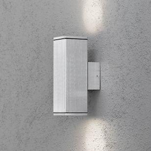 Konstsmide Monza Up & Down Outdoor Wall Light - Aluminium