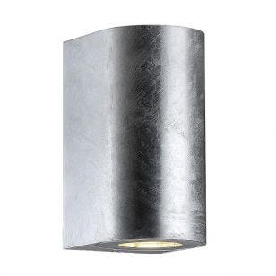 Nordlux Canto Maxi Outdoor Up & Down Wall Light - Galvanised Steel