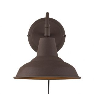 Nordlux Andy Wall Light with Plug - Rust Brown