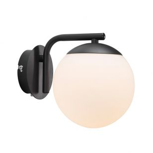 Nordlux Grant Wall Light with Plug - Black