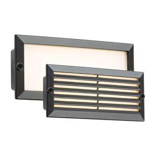 Oblong LED Outdoor Recessed Brick Light - Black