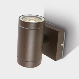 Cylinder Outdoor Wall Light - Rust Brown