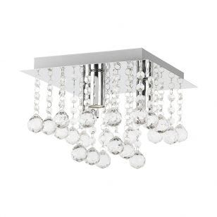 Edit Corin Square Flush Ceiling Light - Chrome