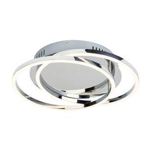 Edit Samia LED Flush Ceiling Light - Chrome