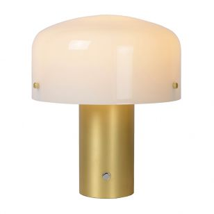 Lucide Timon Large Table Lamp - Matt Gold