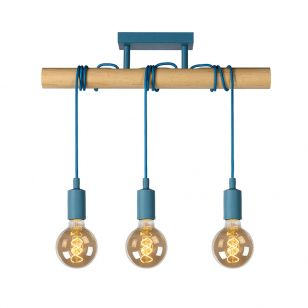 Lucide Paulien 3 Light Bar Ceiling Pendant - Blue