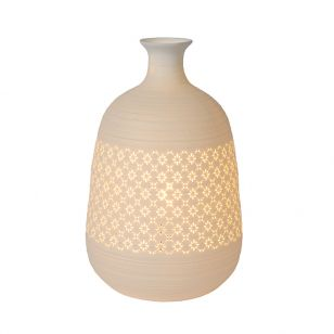 Lucide Tiesse 186 Porcelain Table Lamp - White