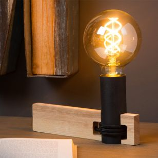 Lucide Tanner Table Lamp - Wood