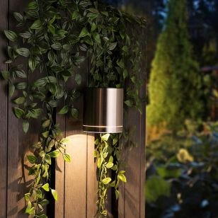 Flat Solar LED Wall Light - Stainless Steel