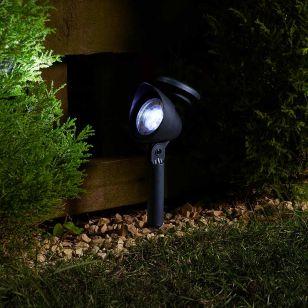 Prima Solar LED Spotlights - Black - Set of 4