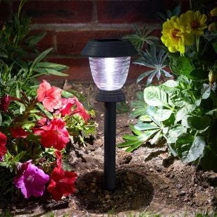 365 Triton Solar LED Stake Lights - Dark Grey - Set of 4