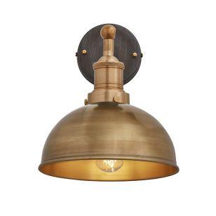 Industville Brooklyn Dome Wall Light - Brass