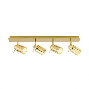 Edit Scorpius 4 Light SpotLight Bar - Brass