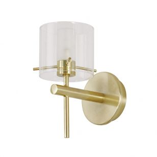 Edit Gene Glass Wall Light - Satin Brass