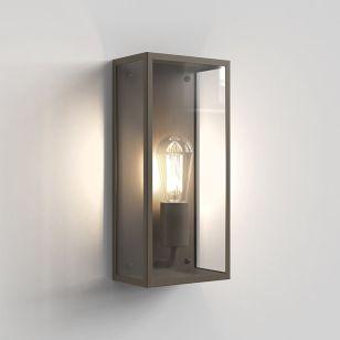 Astro Messina II 160 Half Lantern Outdoor Wall Light - Bronze