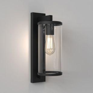 Astro Pimlico 400 Outdoor Lantern Wall Light - Textured Black