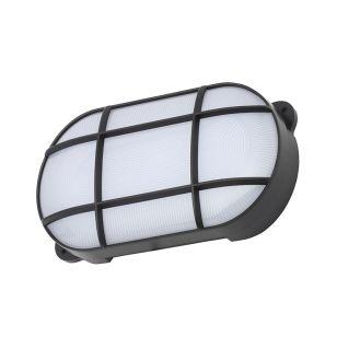 Edit Coastal Capella Oval 15W LED Outdoor Bulkhead - Black