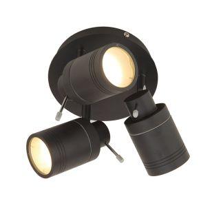 Edit Scorpius 3 Light SpotLight Plate - Matt Black