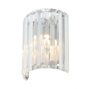 Edit Pegasi Glass Flush Wall Light - Polished Chrome