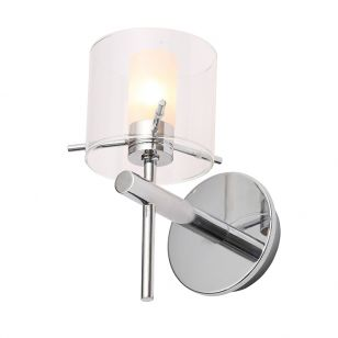 Edit Gene Glass Wall Light - Polished Chrome