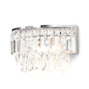Edit Bresna Glass Flush Wall Light - Polished Chrome