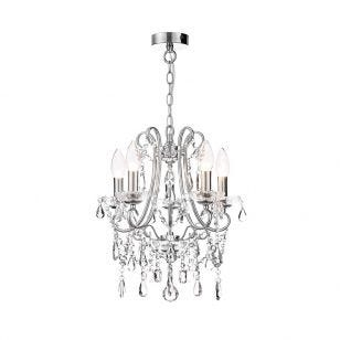 Edit Annalee Small 5 Light Chandelier - Polished Chrome