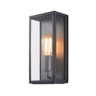 Forum Minerva Half Lantern Outdoor Wall Light - Anthracite
