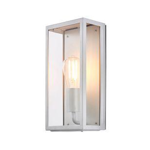 Forum Minerva Half Lantern Outdoor Wall Light - Silver