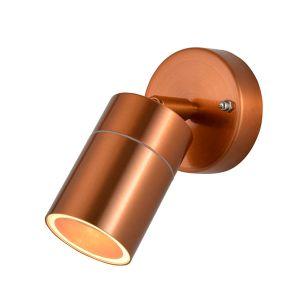 Forum Leto Outdoor Wall Mounted Spotlight - Copper
